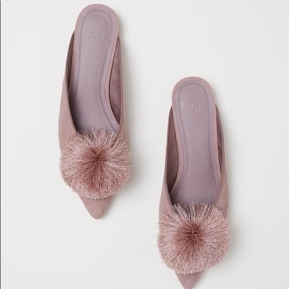991f3a27b75 H M Shoes - H M Pom Pom Mule in Powder ...